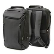 Рюкзак подростковый 46х29х12 см, 2 отделения, 6 карманов, черный, 254-366