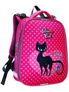 """Ранец школьный STAVIA """"Черная кошка"""" ортопедическая спинка, светоотражающие вставки, мультиколор, 8258Б"""