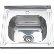 Мойка нержавеющая сталь  500 х500 накладная декор 0,6/160мм MLN-5050