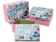 """Набор коробок 3 в 1 """"Just for you"""", прямоугольные, 29х22х13 см, розовый/рисунок"""