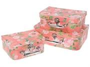 Набор подарочных коробок-чемоданов, 3 штуки (30х22 см/25х19 см/20х16 см)