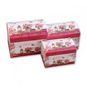 """Набор подарочных коробок-сундуков """"PINK"""" 3 штуки (20х15х16 см)"""