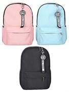 Рюкзак подростковый 43х30х12 см, 1 отделение, 3 кармана, с брелком, цвет в ассортименте