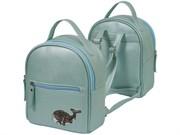 """Рюкзак подростковый deVENTE """"Whale"""" 24х21х9,5 см, 1 отделение, искусственная кожа с аппликацией из пайеток, бирюзовый"""