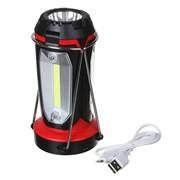 Фонарь-светильник ЧИНГИСХАН 225-001 1 LED, 3 СОВ, 800мАч, 15х8,5х8,5см, 6 режимов, пластик