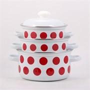 Набор посуды Лысьва 124АП2/4 красный горох
