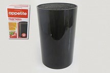 Подставка для ножей Appetite FK02 пластик 11х18см черный