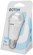 Лампа светодиодная Фотон LED (A60) 13W Е27 3000K 22058